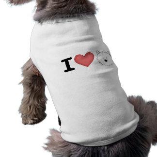 Westies I (del corazón) Playera Sin Mangas Para Perro