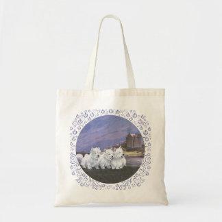 Westies in Scotland Budget Tote Bag