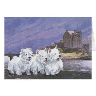Westies in Scotland Greeting Card