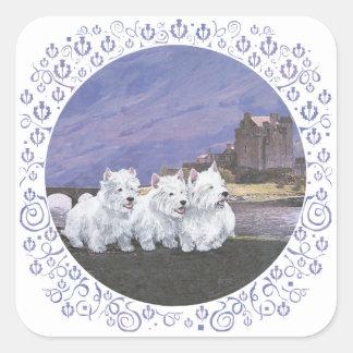 Westies in Scotland Square Sticker