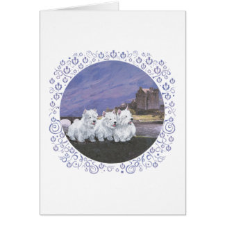 Westies in Scotland Stationery Note Card