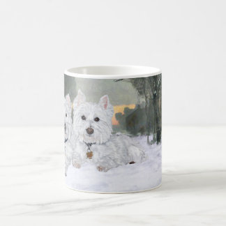 Westies in Wintertime Coffee Mug