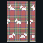 "Westies iPad Air Case<br><div class=""desc"">Westies light red tartan iPad Air Case.  A West Highland White Terrier with a red collar pattern.</div>"