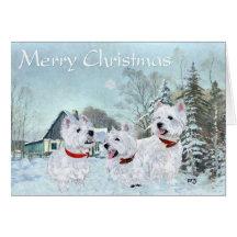 Westies Love the Wintertime Greeting Card