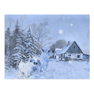 Westies Love the Wintertime Post Card
