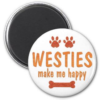 Westies Make Me Happy Fridge Magnet