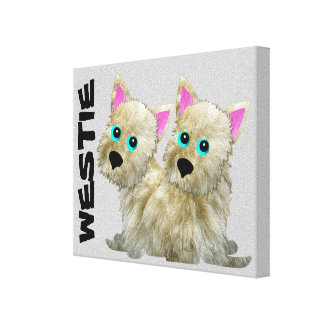 Westies on Canvas