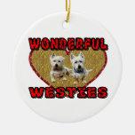 Westies Ornament Ornatos