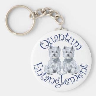 Westies Quantum Entanglement Basic Round Button Keychain
