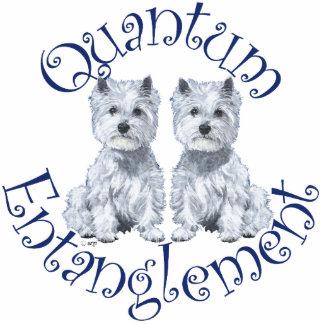 Westies Quantum Entanglement Standing Photo Sculpture