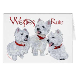 Westies Rule! Card