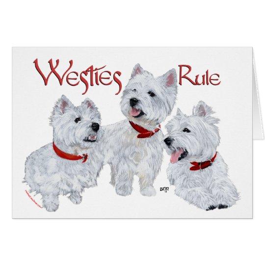 Westies Rule! Card