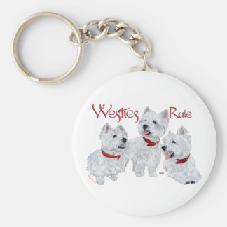 Westies Rule! Keychain