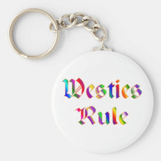 WESTIES RULE BASIC ROUND BUTTON KEYCHAIN