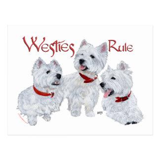 Westies Rule! Postcards