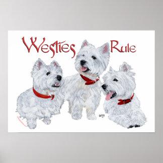 Westies Rule! Poster