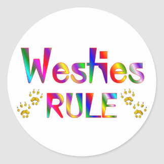 Westies Rule Classic Round Sticker