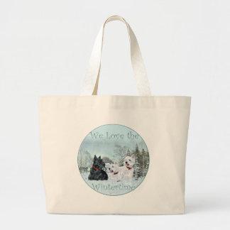 Westies & Scottie in Wintertime Bags