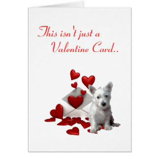 Westies Valentine.. I Wuf You Card