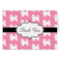 Westies West Highland Terrier Pattern Pink