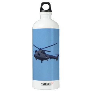 Westland Puma Military Helicopter Aluminum Water Bottle
