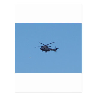 Westland Puma Military Helicopter Postcard