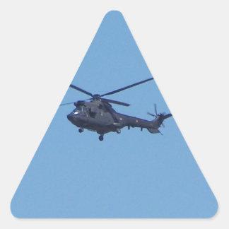 Westland Puma Military Helicopter Triangle Sticker