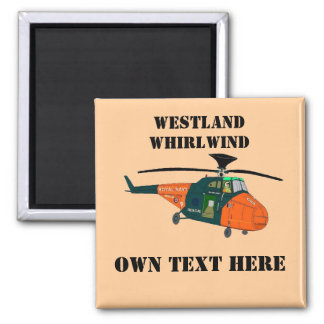 Westland Whirlwind 2 Inch Square Magnet