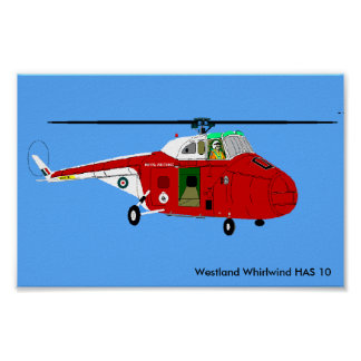 Westland Whirlwind HAS 10 Poster