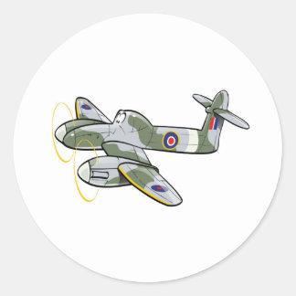 westland wirlwing classic round sticker