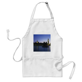 Westminister Palace at Night Adult Apron