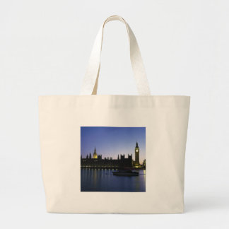 Westminister Palace at Night Canvas Bag