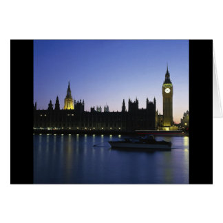 Westminister Palace at Night Cards