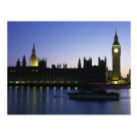 Westminister Palace at Night Postcard