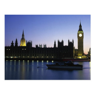 Westminister Palace at Night Postcards