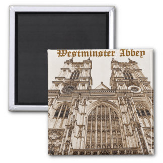 Westminster Abbey 2 Inch Square Magnet