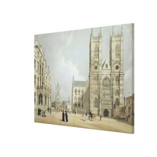 Westminster Abbey and Hospital, from 'London As It Canvas Print