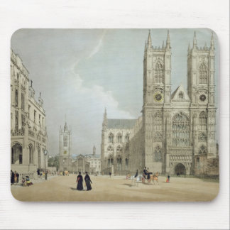 Westminster Abbey and Hospital, from 'London As It Mouse Pad