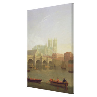 Westminster Abbey and Westminster Bridge Seen from Canvas Print