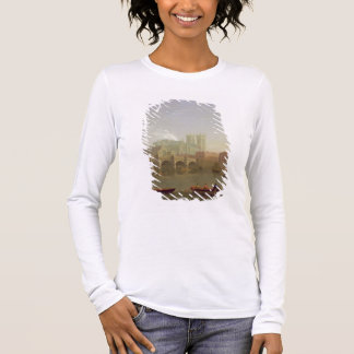 Westminster Abbey and Westminster Bridge Seen from Long Sleeve T-Shirt