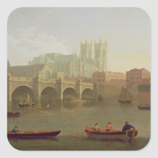 Westminster Abbey and Westminster Bridge Seen from Square Sticker