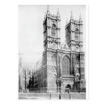 Westminster Abbey circa 1890 Postcard