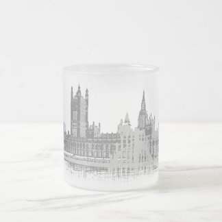 Westminster Abbey Frosted Glass Coffee Mug