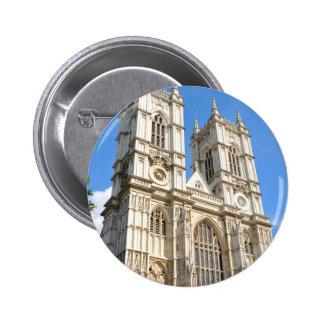 Westminster Abbey in London, UK Pinback Button