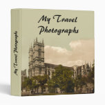 Westminster Abbey, London, England 3 Ring Binder