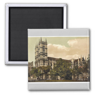 Westminster Abbey, London, England rare Photochrom 2 Inch Square Magnet