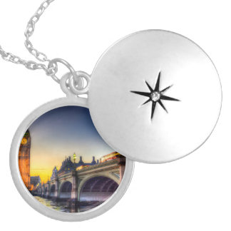 Westminster Bridge and Big Ben Silver Plated Necklace