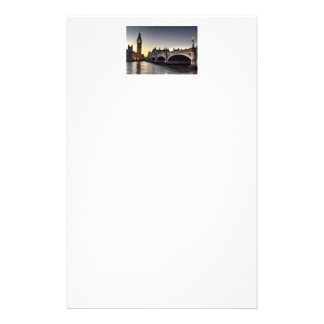 Westminster Bridge and Big Ben Customized Stationery