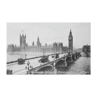 Westminster Bridge and the Houses of Canvas Print