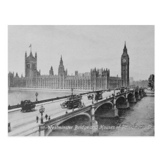 Westminster Bridge and the Houses of Postcard